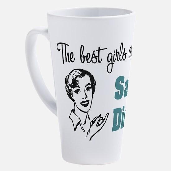 Unique California girl 17 oz Latte Mug