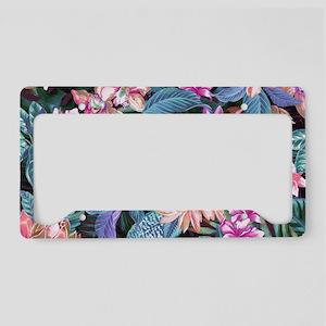 Exotic Floral License Plate Holder