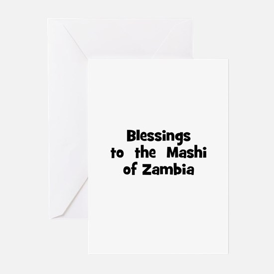 Blessings  to  the  Mashi of  Greeting Cards (Pk o