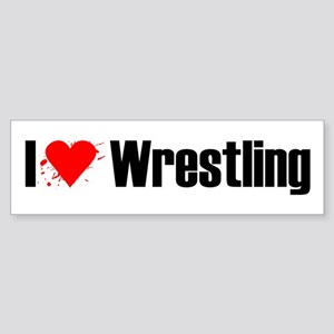 I love wrestling Bumper Sticker