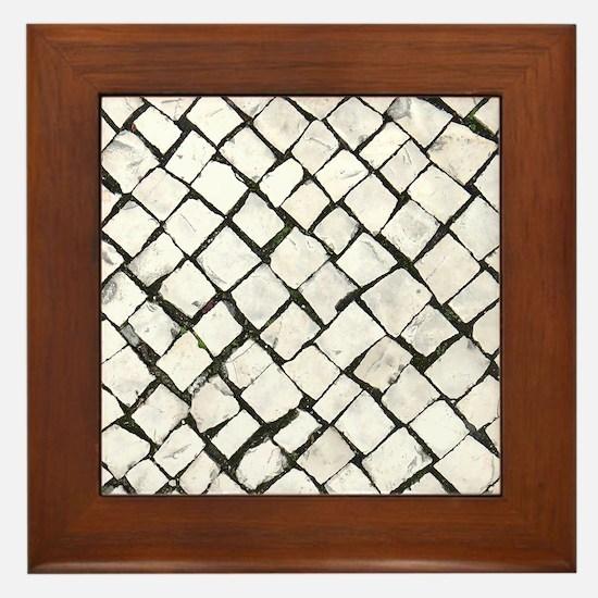 Portuguese Sidewalk / Calçada Portugue Framed Tile