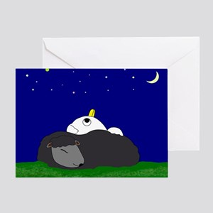 Stargazing With Woolly Pillow Greeting Cards