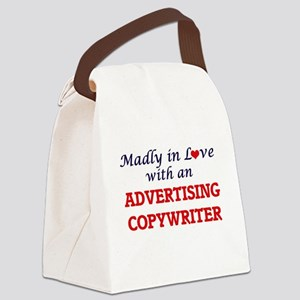 Madly in love with an Advertising Canvas Lunch Bag