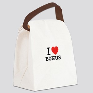 I Love BONUS Canvas Lunch Bag
