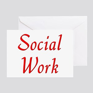 Social Work (red) Greeting Card