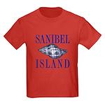 Sanibel Island Shell - Kids Dark T-Shirt