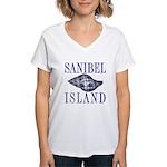 Sanibel Island Shell - Women's V-Neck T-Shirt