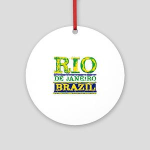 Rio De Janeiro Brazil Round Ornament
