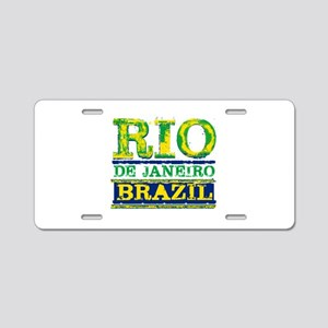 Rio De Janeiro Brazil Aluminum License Plate