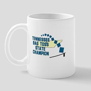 Tennessee Bag Toss State Cham Mug