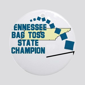 Tennessee Bag Toss State Cham Ornament (Round)