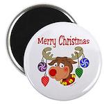 Merry Christmas Reindeer Magnet
