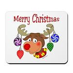Merry Christmas Reindeer Mousepad