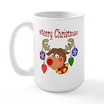 Merry Christmas Reindeer Large Mug