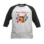 Merry Christmas Reindeer Kids Baseball Jersey