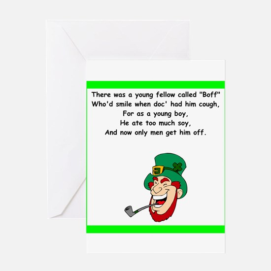 racy limerick Greeting Cards
