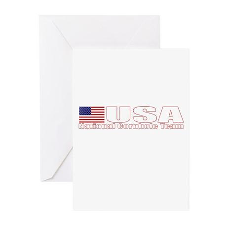 USA National Cornhole Team Greeting Cards (Pk of 1