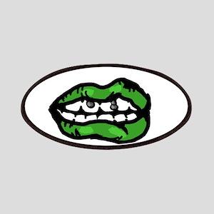 Moss Green Lips Patch
