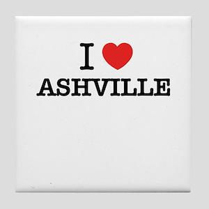 I Love ASHVILLE Tile Coaster