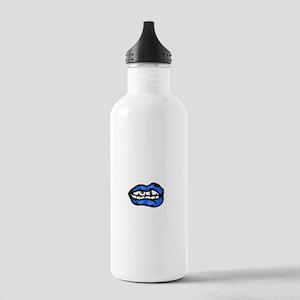 Neon Blue Lips Stainless Water Bottle 1.0L