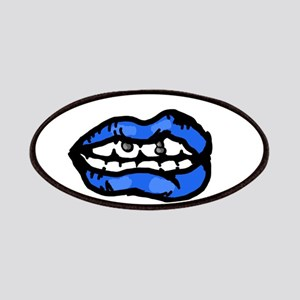 Neon Blue Lips Patch
