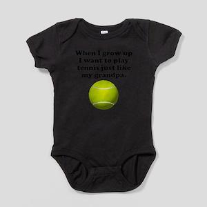 Play Tennis Like My Grandpa Body Suit