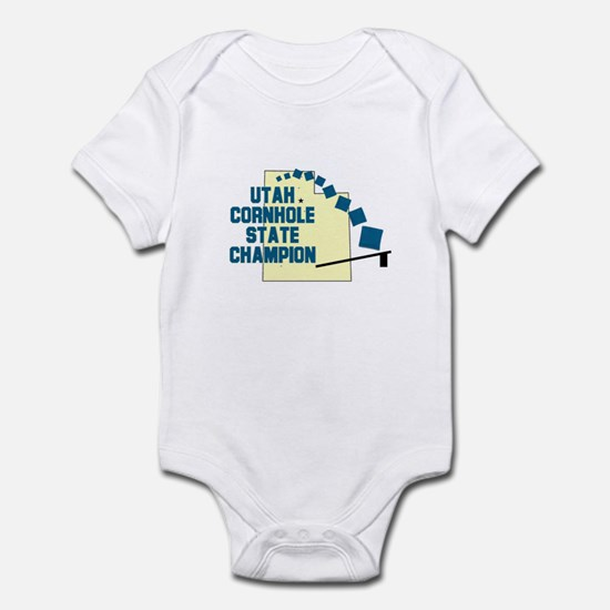 Utah Cornhole State Champion Infant Bodysuit