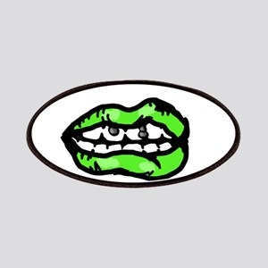 Neon Green Lips Patch