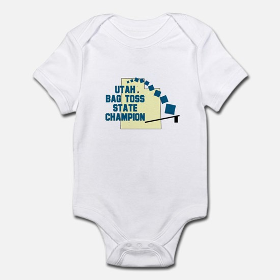 Utah Bag Toss State Champion Infant Bodysuit