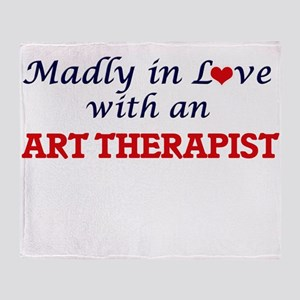 Madly in love with an Art Therapist Throw Blanket