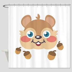 Squirrel & Acorns Shower Curtain