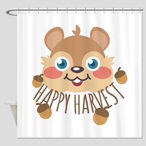 Happy Harvest Shower Curtain