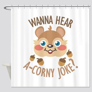 A-Corny Joke Shower Curtain