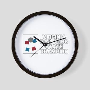 Virginia Bag Toss State Champ Wall Clock