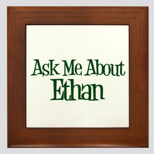 Ask Me About Ethan Framed Tile