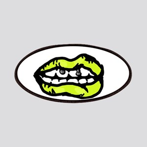 Neon Yellow Lips Patch