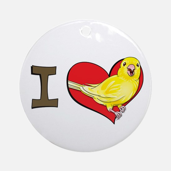 I heart canaries Ornament (Round)