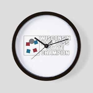 Wisconsin Bag Toss State Cham Wall Clock