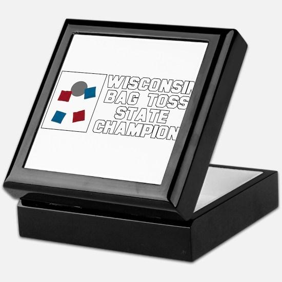 Wisconsin Bag Toss State Cham Keepsake Box