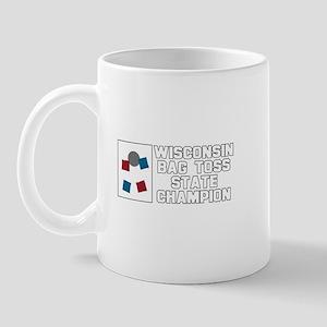 Wisconsin Bag Toss State Cham Mug