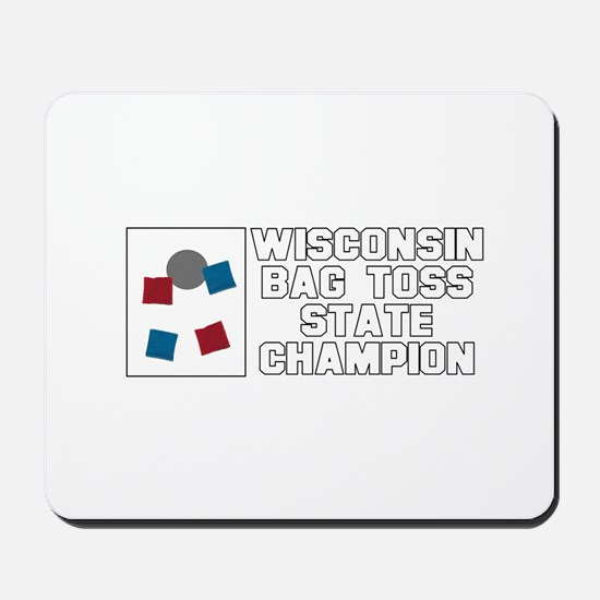 Wisconsin Bag Toss State Cham Mousepad