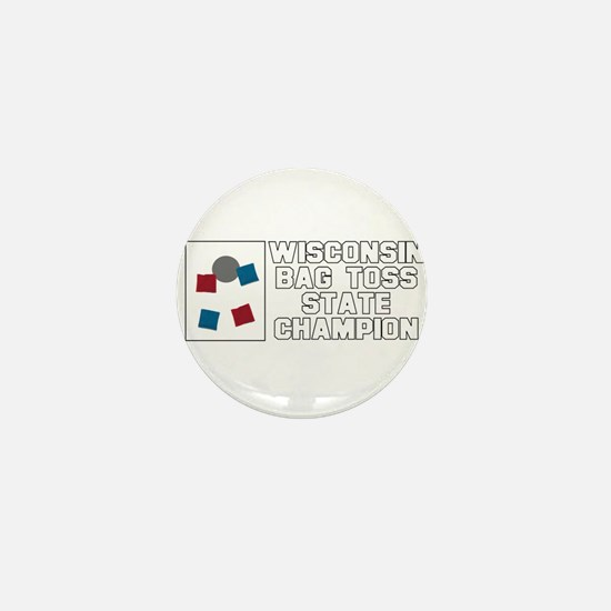 Wisconsin Bag Toss State Cham Mini Button