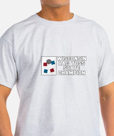Wisconsin Bag Toss State Cham T-Shirt