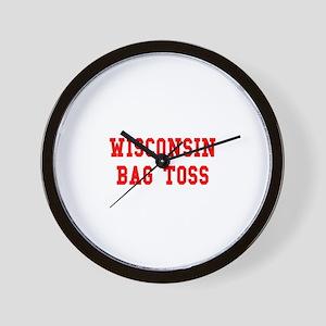 Wisconsin Bag Toss Wall Clock