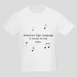 Deaf Music Kids Light T-Shirt