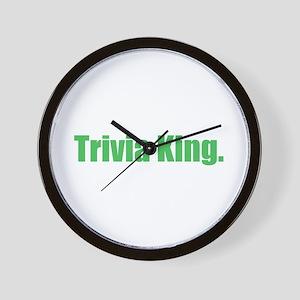 Trivia King Wall Clock