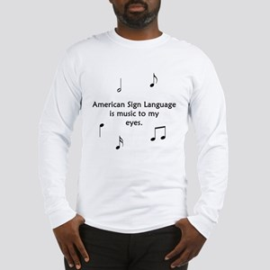 Deaf Music Long Sleeve T-Shirt