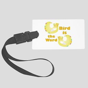 Bird Is Word Luggage Tag
