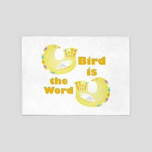 Bird Is Word 5'x7'Area Rug