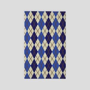 Blueberry Scone Argyle Area Rug